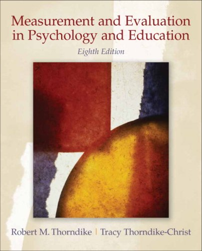 Measurement and Evaluation in Psychology and Education  8th 2010 edition cover