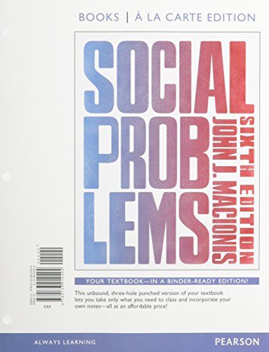 Social Problems, Books a la Carte Edition and REVEL -- Access Card--For Social Problems Package  6th 2015 edition cover