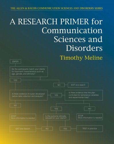 Research Primer for Communication Sciences and Disorders   2010 edition cover