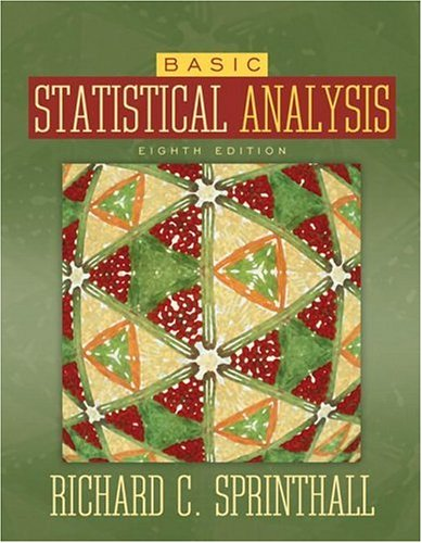 Basic Statistical Analysis  8th 2007 (Revised) edition cover