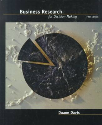 Business Research for Decision Making  5th 2000 9780534373979 Front Cover