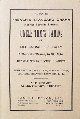 HARRIET...STOWE'S:UNCLE TOM'S 1st edition cover