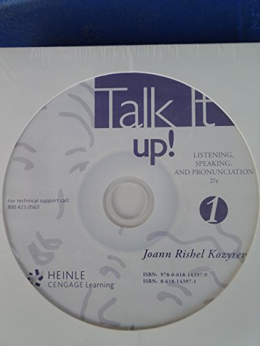 Audio Cd Used with ... Kozyrev-Talk It up!: Listening, Speaking, and Pronunciation, 1 2nd 2002 9780618143979 Front Cover