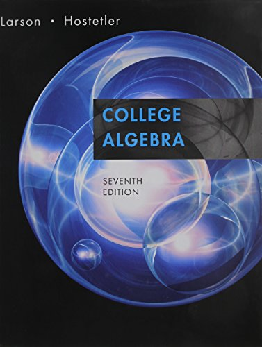 College Algebra 7th Edition Plus Student Solutions Guide Plus Mathspace Cd 7th Edition 7th 2007 9780618804979 Front Cover