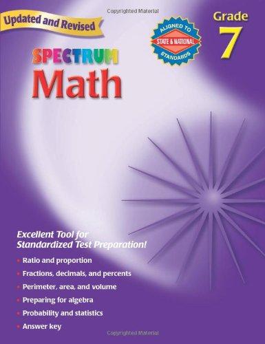 Math, Grade 7   2007 edition cover