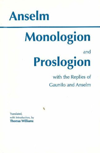 Monologion and Proslogion With the Replies of Gaunilo and Anselm N/A edition cover