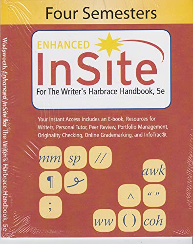 WRITER'S HARB.HANDBOOK-ACCESS >CUSTOM<  N/A 9781285623979 Front Cover