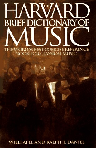 Harvard Brief Dictionary of Music 1st edition cover