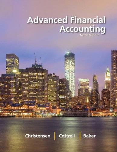 Advanced Financial Accounting:   2013 9780077515980 Front Cover