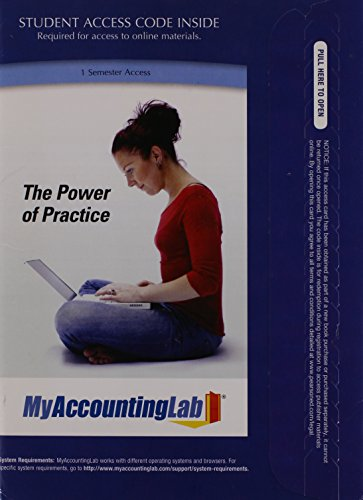 MyAccountingLab with Pearson eText -- Access Card -- for Managerial Accounting  2nd 2012 9780132773980 Front Cover