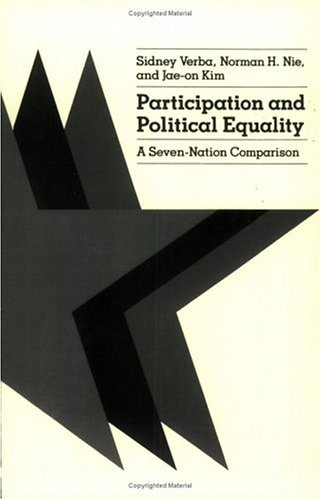 Participation and Political Equality A Seven-Nation Comparison N/A edition cover