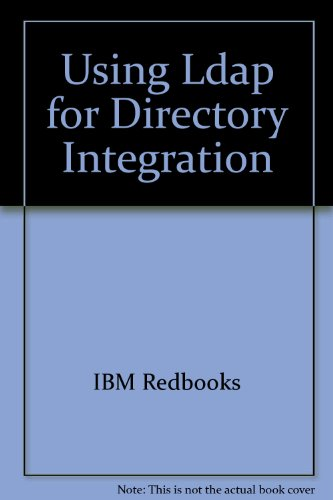Using LDAP for Directory Integration 2nd 2004 9780738498980 Front Cover