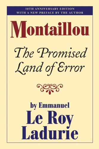 Montaillou The Promised Land of Error  2008 edition cover