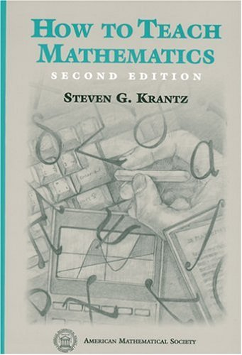 How to Teach Mathematics  2nd 1999 (Revised) edition cover