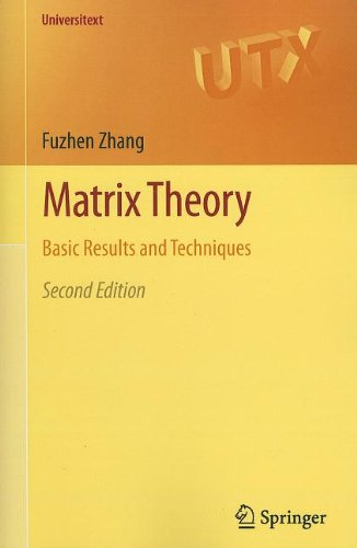 Matrix Theory Basic Results and Techniques 2nd 2011 edition cover
