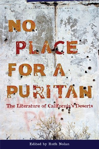 No Place for a Puritan The Literature of the California Deserts  2009 edition cover