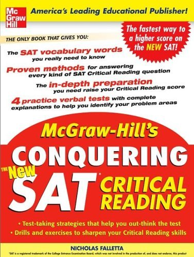 McGraw-Hill's Conquering the New SAT Critical Reading   2006 9780071453981 Front Cover