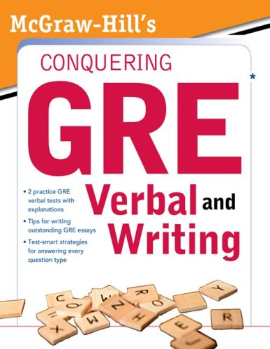 McGraw-Hill's Conquering the New GRE Verbal and Writing   2011 9780071495981 Front Cover