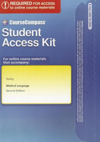 CourseCompass Access Code Card for Medical Language   2011 9780132114981 Front Cover