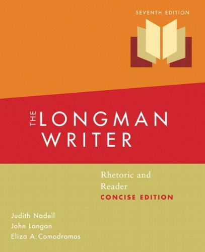 Longman Writer  7th 2009 (Revised) 9780205739981 Front Cover