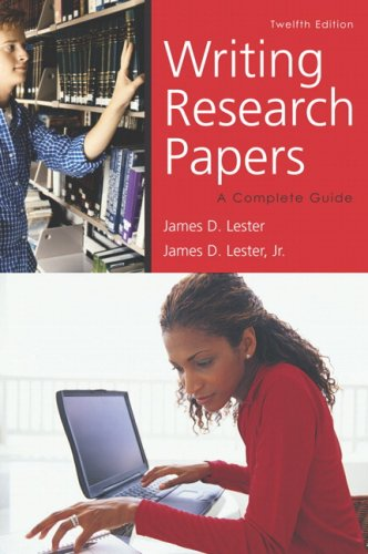 Writing Research Papers A Complete Guide 12th 2007 (Revised) edition cover
