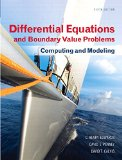 Differential Equations and Boundary Value Problems Computing and Modeling 5th 2015 edition cover