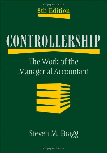 Controllership The Work of the Managerial Accountant 8th 2009 edition cover