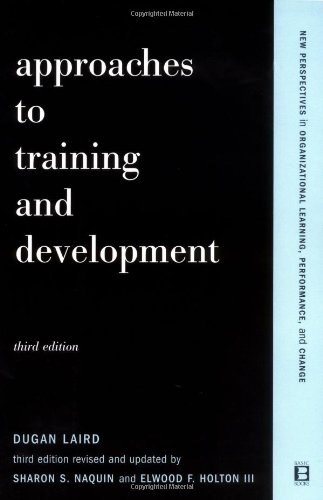 Approaches to Training and Development  3rd 2002 (Revised) edition cover