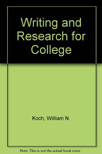 Writing and Research for College  Revised  9780757582981 Front Cover