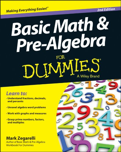 Basic Math and Pre-Algebra for Dummies�  2nd 2014 edition cover
