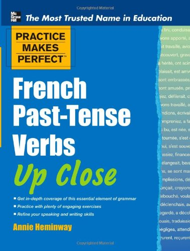 French Past-Tense Verbs up Close   2012 edition cover