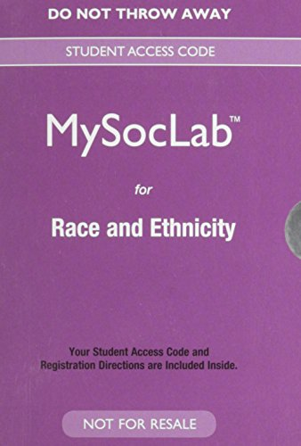 NEW MySocLab for Race and Ethnicity -- Valuepack Access Card  14th 2015 edition cover