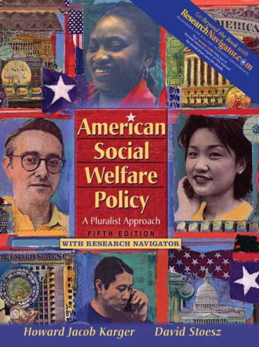 American Social Welfare Policy A Pluralist Approach 5th 2008 edition cover