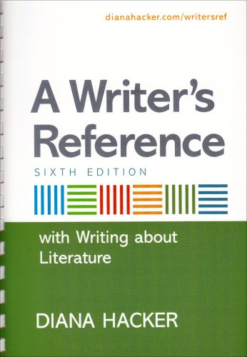 Writer's Reference With Writing about Literature 6th 2007 edition cover