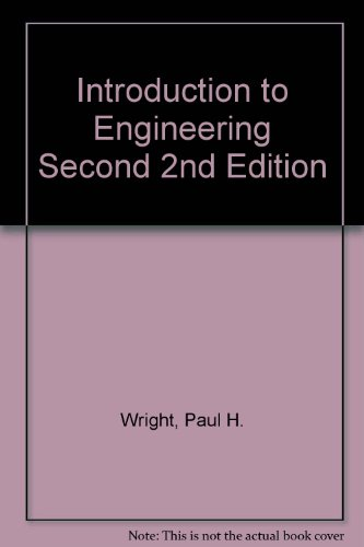Introduction to Engineering  2nd 1994 9780471599982 Front Cover