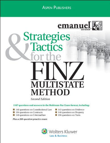 Strategies and Tactics for Finz Multistate Method 2009  2nd (Student Manual, Study Guide, etc.) edition cover