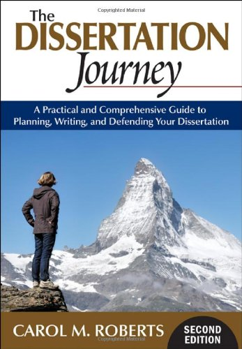 Dissertation Journey A Practical and Comprehensive Guide to Planning, Writing, and Defending Your Dissertation 2nd 2010 edition cover