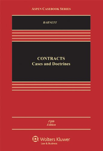 Contracts Cases and Doctrine 5th 2012 (Revised) edition cover