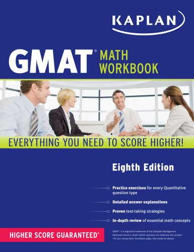 Kaplan GMAT Math Workbook  8th 2013 (Revised) edition cover