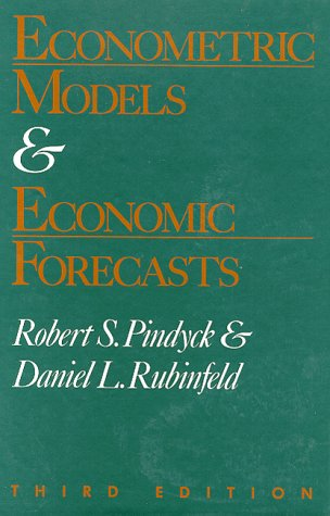 Econometric Models and Economic Forecasts 3rd edition cover