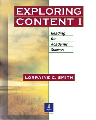 Exploring Content 1 Reading for Academic Success  2004 edition cover