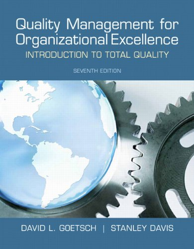 Quality Management for Organizational Excellence Introduction to Total Quality 7th 2013 (Revised) edition cover