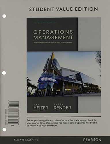 Operations Management: Student Value Edition  2013 edition cover