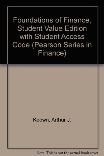 Foundations of Finance, Student Value Edition Plus NEW MyFinanceLab with Pearosn EText -- Access Card Packge  8th 2014 edition cover
