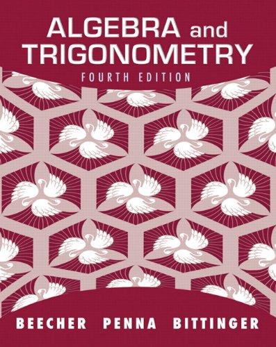 Algebra and Trigonometry  4th 2012 (Revised) edition cover