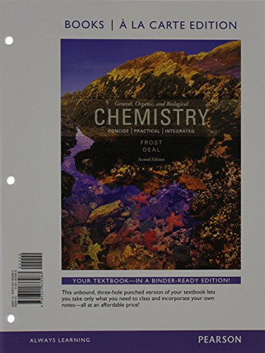 General, Organic, and Biochemistry, Books a la Carte Edition  2nd 2014 edition cover