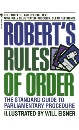 Robert's Rules of Order The Standard Guide to Parliamentary Procedure N/A 9780553225983 Front Cover