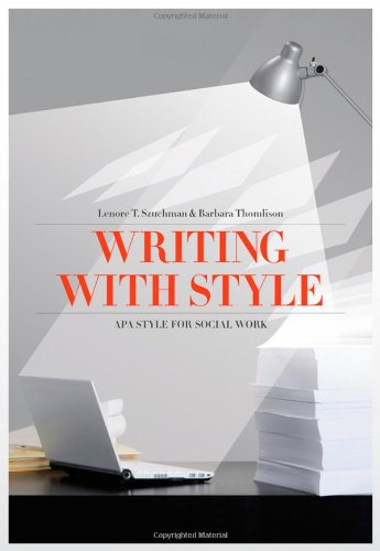 Writing with Style APA Style for Social Work 4th 2011 edition cover