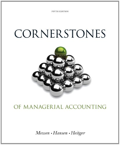 Cornerstones of Managerial Accounting  5th 2014 edition cover