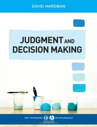 Judgment and Decision Making Psychological Perspectives  2009 edition cover
